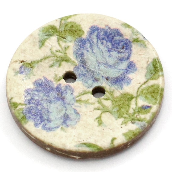 BCO25105 - colorful coconut 4 round buttons 25 MM