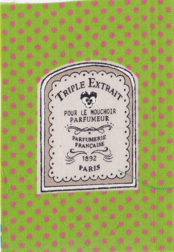 "Applied fusible cotton polka dot pattern ""triple extract"""