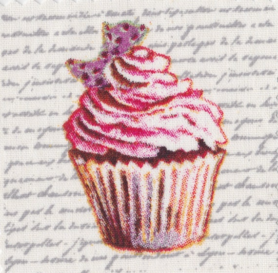 Cup cake 14 - applied fusible to fix to iron