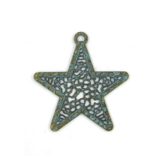 "Great charm - bronze blue ""Star"""