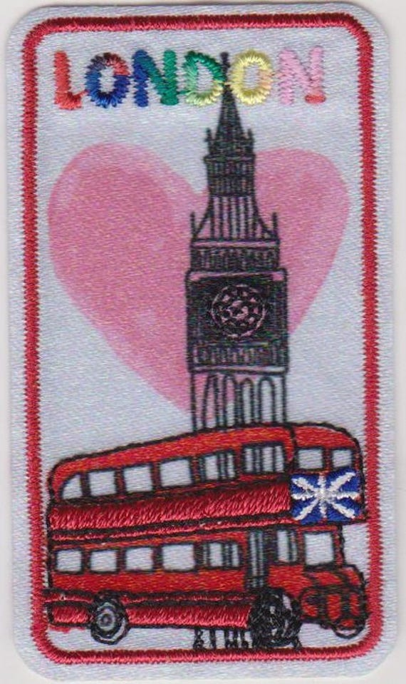 "Patch fusible trend ""london"" pattern"