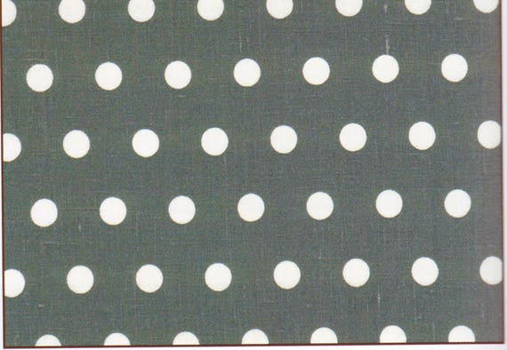 Fabric polka dot - PASTILLE grey anthracite coupon 48 x 50 cm 100% linen