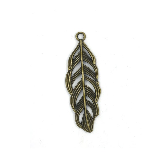 "Great charm - bronze ""Feather"""