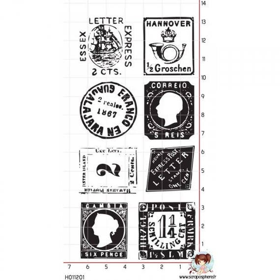 SCR32 scraposphere rubber stamp is mounted stamp