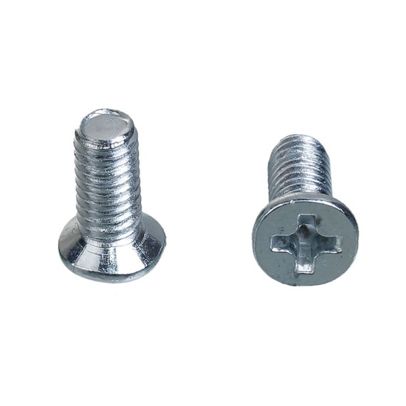 10 flat screw - silver color - size: 6 x 10 mm