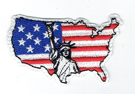 """Patch fusible trend pattern """"United State"""""""