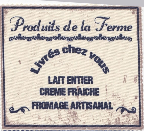 "DAIRY 2: APPLIQUE TWILL ""PRODUCTS"""