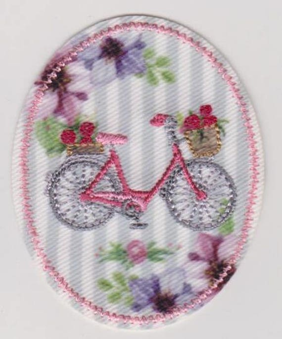 """Patch fusible trend pattern """"bicycle"""""""