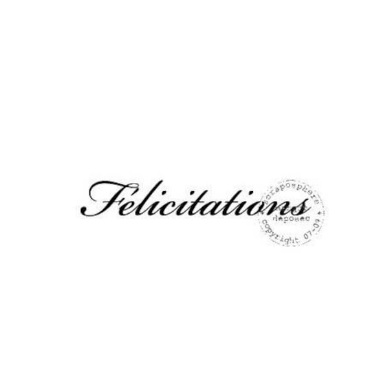 "Pattern ""Congratulations"" rubber stamp mounted on foam"