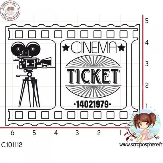 "SCR65.1 rubber stamp to assemble ""theater"" pattern"