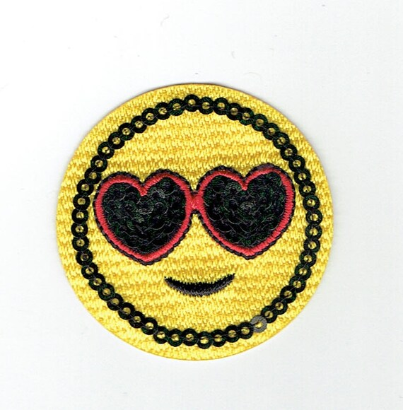 """Patch fusible trend """"Smile sequin"""" pattern"""