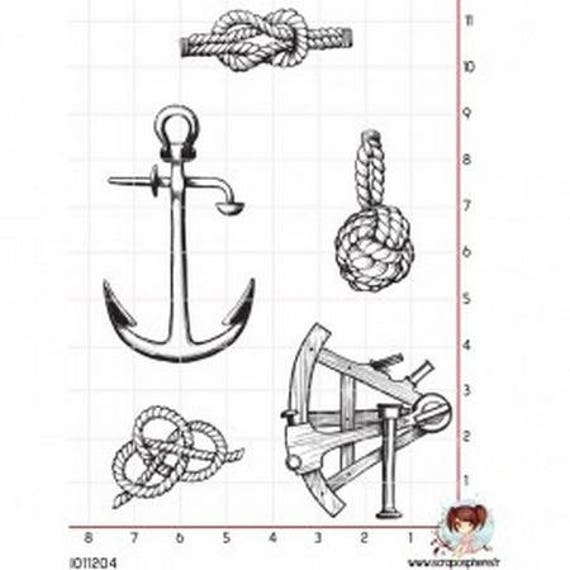 """SCR114 rubber stamp to """"sailor"""""""