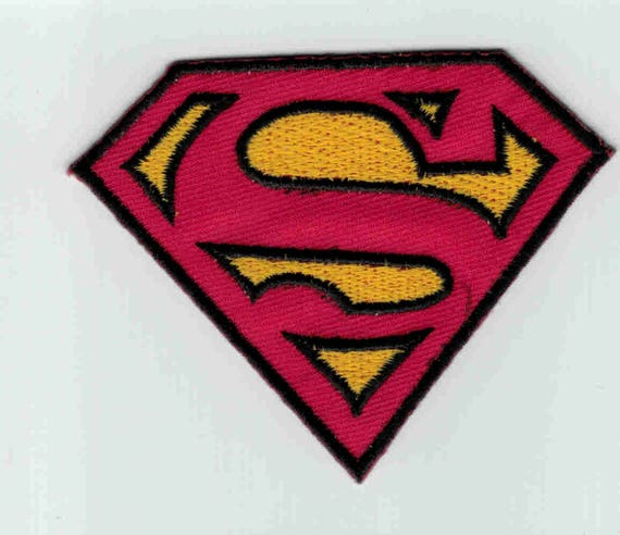 "Patch fusible trend pattern ""superman"""