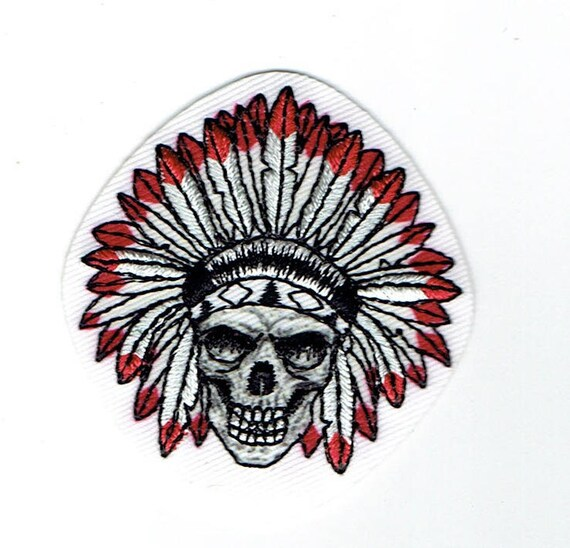 "Patch fusible trend pattern ""skull"""