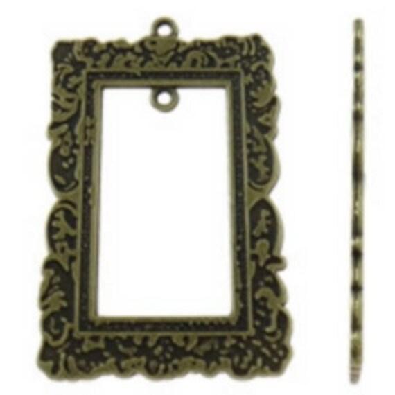 "bronze ""frame"" 1 large charm size 34 x 54 mm"