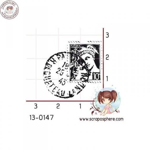 SCR30 stamp mounted on foam pattern rubber stamp