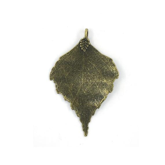"Great charm - bronze ""leaf"""