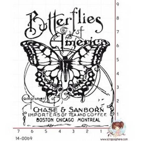 Has SCR125 scraposphere rubber stamp mount Butterfly
