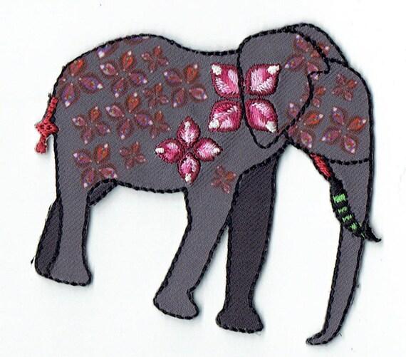 """Patch fusible trend pattern """"Eléphant"""""""