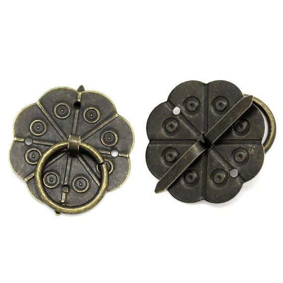 2 handles - bronze - size: 30 mm