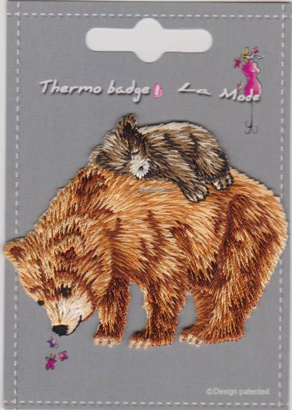 """Patch fusible trend """"bear"""" pattern"""