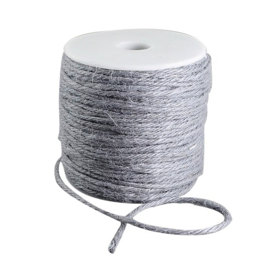 String of hemp - 6 M - grey color - 2 mm thick
