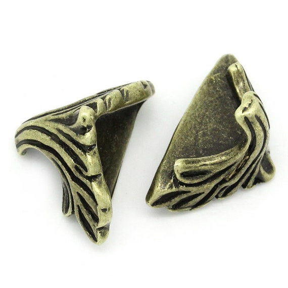 Set of 4 corners / angle - bronze - size: 14 mm