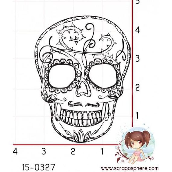 "Pattern ""skull"", rubber stamp mounted on foam"