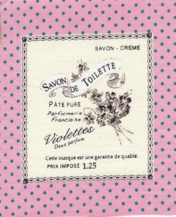 "Applied fusible cotton polka dot pattern ""SOAP"""