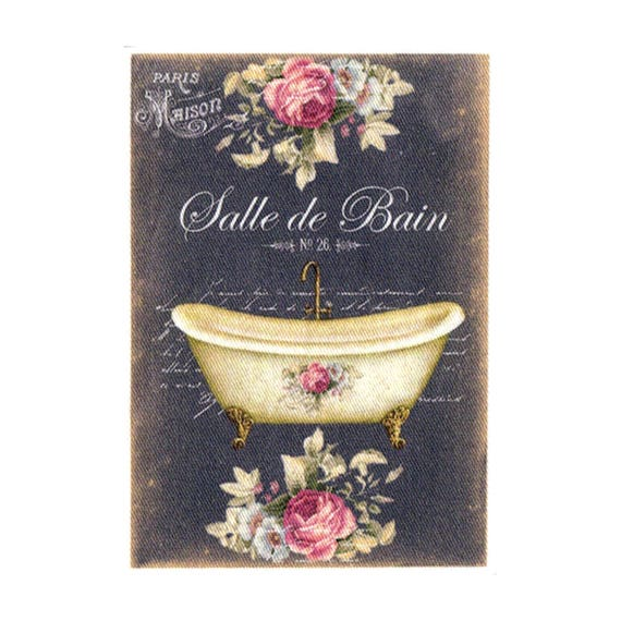 """Applied to sew Collection """"Bathroom chalk"""" AC409 3"""