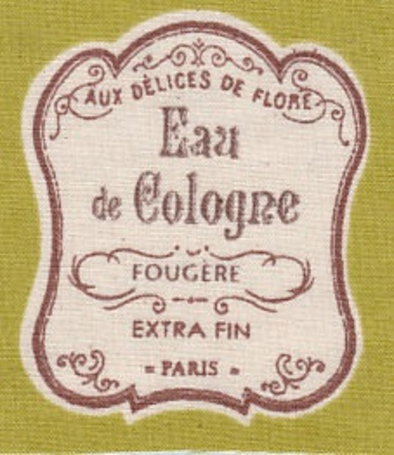 "FUSIBLE APPLIQUE pattern ""eau de Cologne"" cotton"
