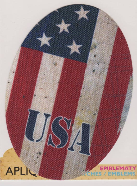 """Patch fusible trend """"American"""" pattern"""