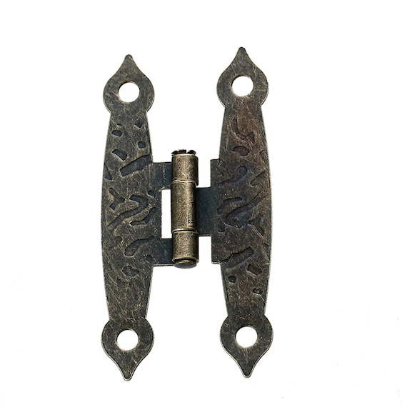 2 hinges - bronze - size: 65 mm