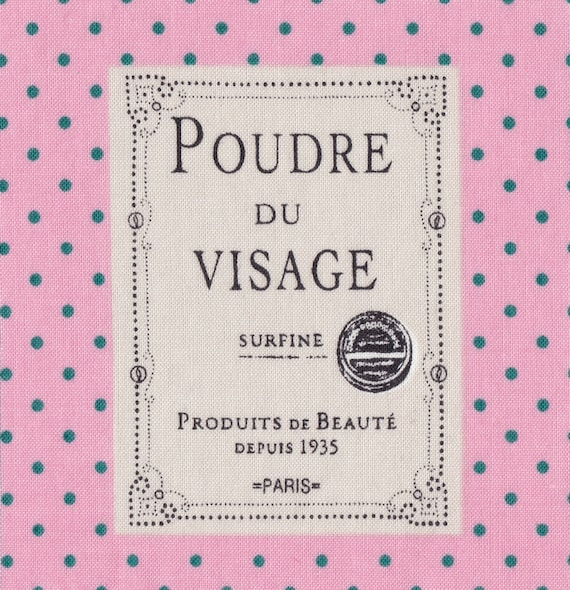 "Applied fusible cotton polka dot pattern ""face powder"""