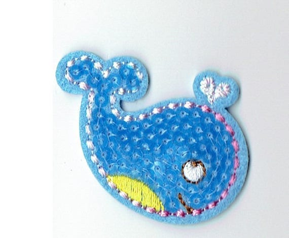 """Patch fusible trend pattern """"whale"""""""