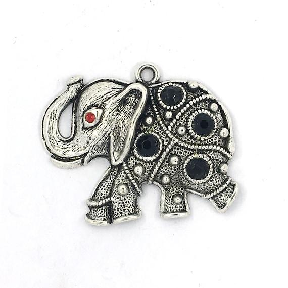 """Grande breloque - couleur argenté """"éléphant"""""""