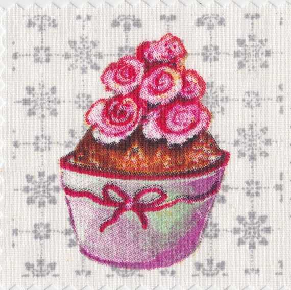 Cup cake 8 - applied fusible to fix to iron