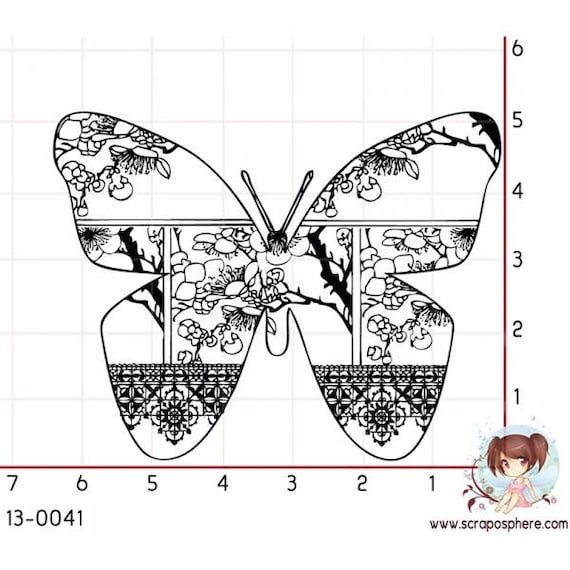 Has SCR89 scraposphere rubber stamp mount Butterfly