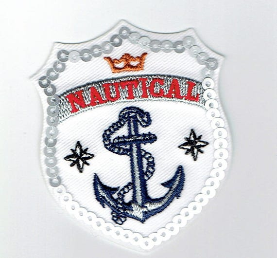 "Patch fusible trend pattern ""nautical"""