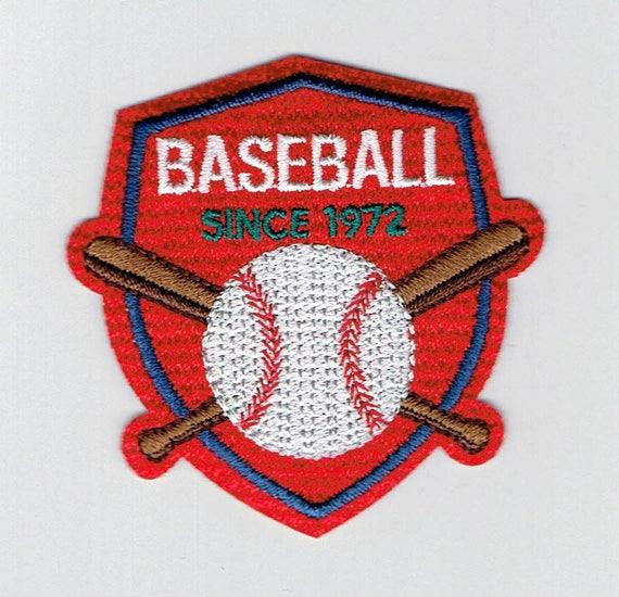 "Patch fusible trendy ""baseball"" pattern"