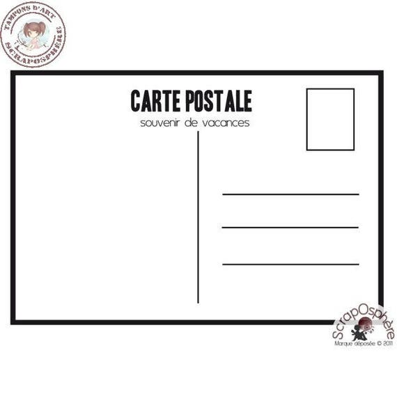 """SCR33 rubber stamp to assemble pattern """"postcard"""""""