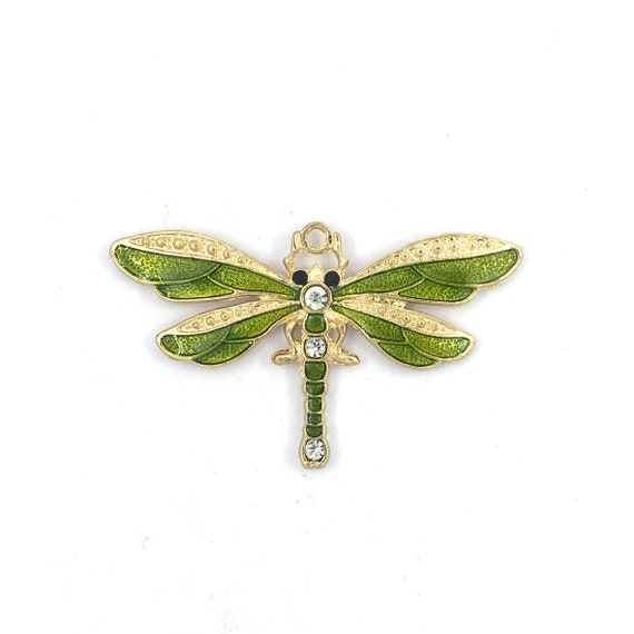 """Great charm - bronze """"Dragonfly emailed"""""""