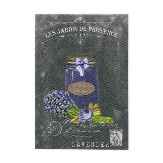 "Applied fusible - Collection ""Lavender background chalk"" AT404-2"