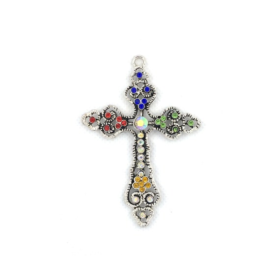 "Great charm - silver colored ""cross"""