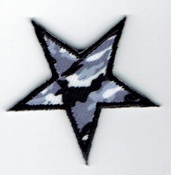 """Patch fusible trend """"Army Star"""" pattern"""