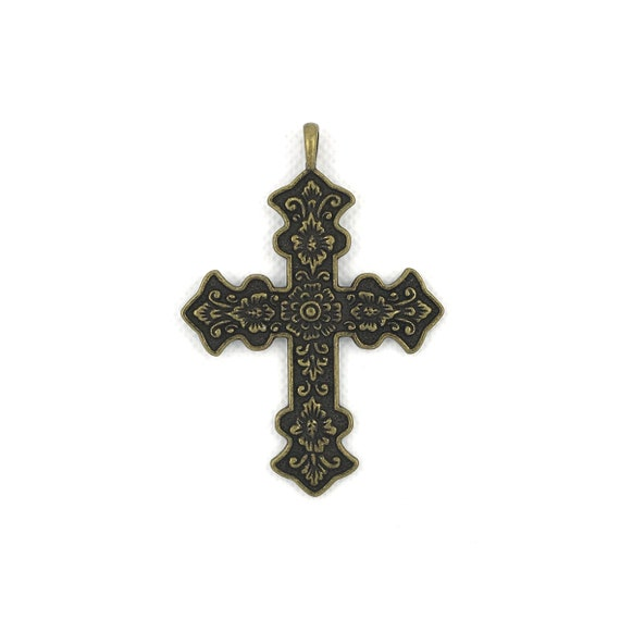 "Great charm - bronze ""cross"""