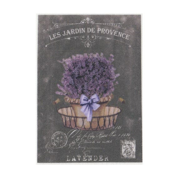 "Applied fusible - Collection ""Lavender background chalk"" AT404-6"