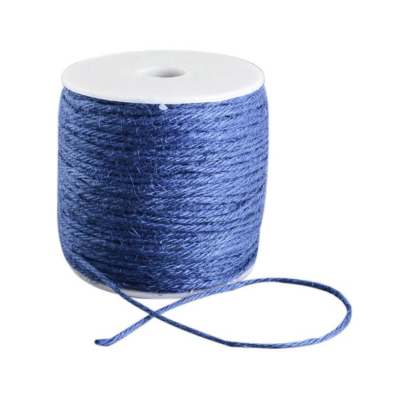 String of hemp - 6 M - blue - 2 mm thick