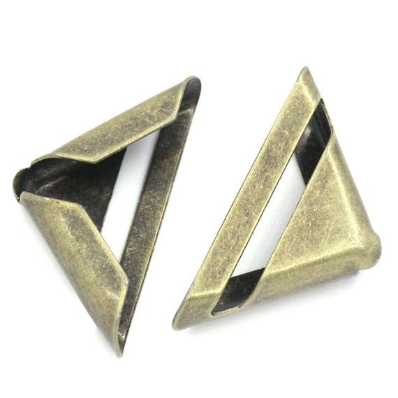 Set of 8 corners / angle - bronze - size: 16 mm