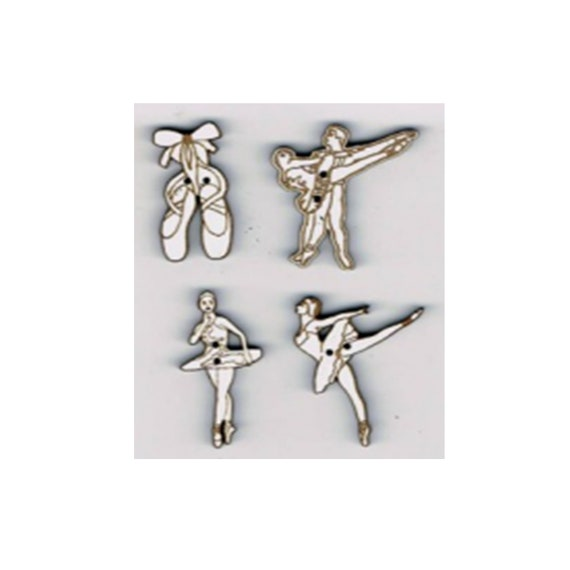 "Buttons craft Board wood motif ""Dancer"""